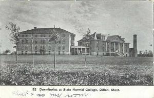UND/B Dormitories State Normal College Dillon Montana 1907