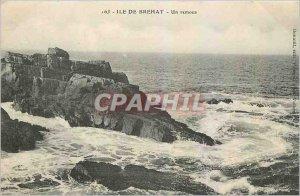 Old Postcard Ile de Brehat a tub