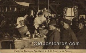 From an American Red Cross L.O.C. Canteen In France Red Cross writing on back...
