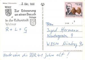 Germany Gruss aus Weimar Wittumspalais Palace