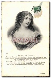 Old Postcard Countess of Grignan