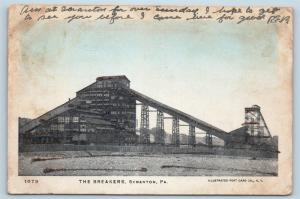 Postcard PA Scranton The Breakers Coal Mining Mine c1906 Glitter Mica M12
