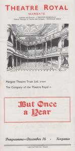 But Once A Year Falkland L Cary Rare Theatre Royal Margate Kent Programme