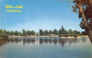 Marysville California Ellis Lake Waterfront Vintage Postcard K43008