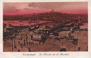 CONSTANTINOPLE, Turkey, 1910-1930s; Le Pont Du Cote De Stamboul