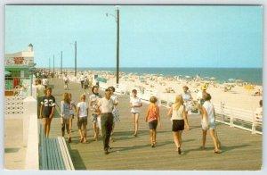 1980's ERA REHOBOTH BEACH DELAWARE*BOARDWALK*SNAK BAR*OCEAN*UNUSED POSTCARD