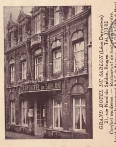 Grand Hotel Du Sablon Bruges Belgium 1940s Ephemera