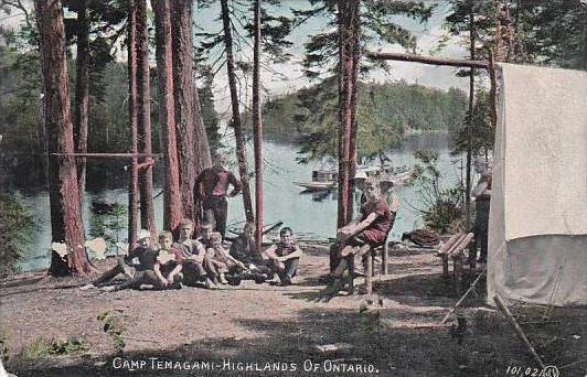 Canada Ontario Camp Temagami In The Highlands