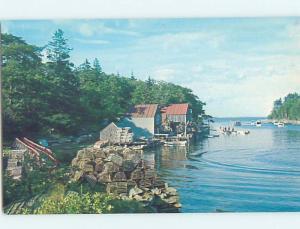 Pre-1980 HARBOR SCENE New Harbor In Bristol Maine ME hp7459@
