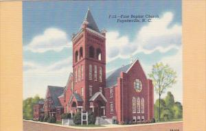 FAYETTEVILLE, North Carolina, 1930-1940's; First Baptist Church