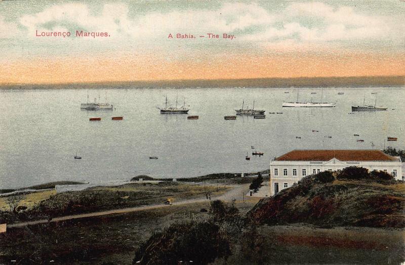 Mozambique Maputo Lourenco Marques A Bahia The Bay Boats Panorama Postcard
