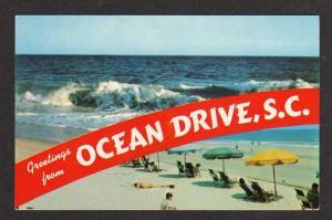 SC Greetings from OCEAN DRIVE SOUTH CAROLINA Postcard