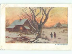 Divided-Back GREAT SCENE Greeting Postcard AA6964