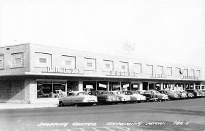 Ishpeming MI Shopping Center~Johnson's~Selin's~Vern's~IGA Foodliner RPPC c1950