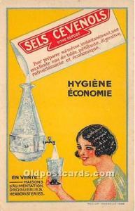 Advertising Postcard - Old Vintage Antique Sels Cevenolis Hygiene Economie Un...