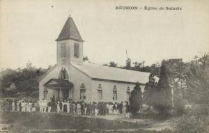 reunion island, SALAZIE, Church Eglise (1899) Messageries Maritimes