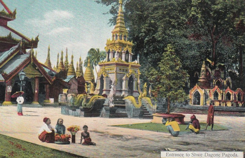 Entrance to Shwe Dagone Pagoda , Burma , 00-10s