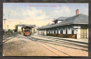 dc1860 - FARMINGTON Maine 1912 Central Railroad Station. Depot