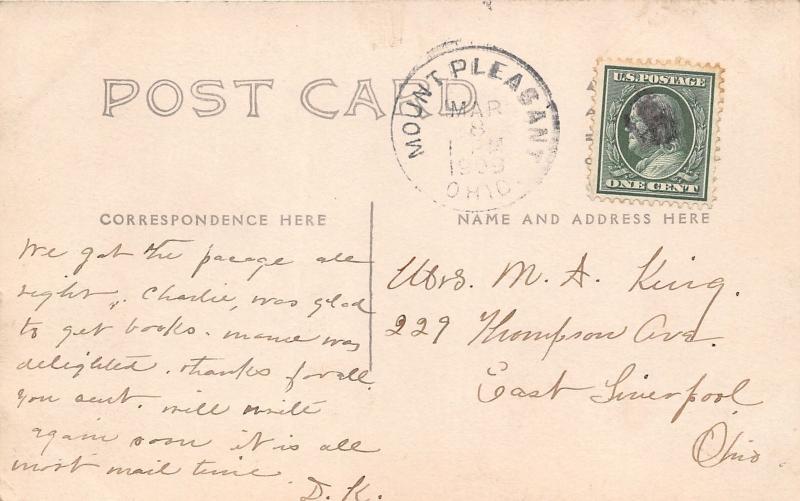 E84/ Mt Pleasant Ohio RPPC Postcard Jefferson County 1909 M.P. Church