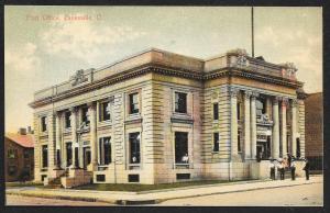 Post Office Zanesville Ohio Unused c1908