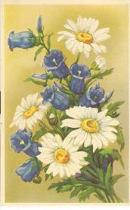 Flowers, old used Postcard
