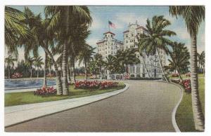 Hotel Pennsylvania Lake Worth Florida linen postcard
