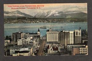 BC Burrard Inlet VANCOUVER BRITISH COLUMBIA Postcard PC