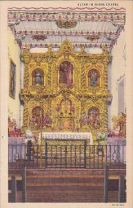 California San Juan Capistrano Mission Altar In Serra Chapel