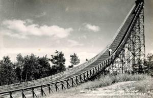 MI - Iron Mountain. Pine Mountain Ski Slide   *RPPC