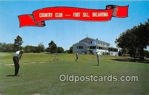 Golf Postcard Fort Sill, OK, USA Officers' & Enlisted Men's Country Club