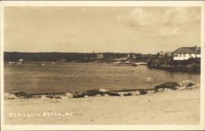 Pemaquid Beach ME 1940s Real Photo Postcard