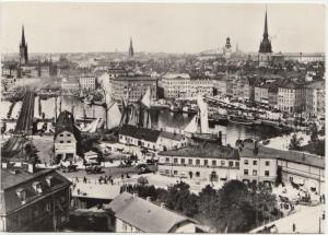 Modern Postcard: Stockholm View from the Katarina elevator in 1906, reproduction