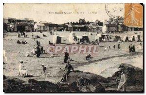 Postcard Old Saint Quay The Beach
