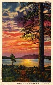 New Hampshire Lake Sunapee Sunset 1945 Curteich