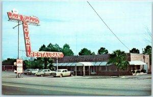 South Carolina Postcard JACK NOLEN'S RESTAURANT HIghway 301 Roadside 1950s Cars