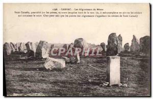 Old Postcard Dolmen Menhir Carnac alignments Menac