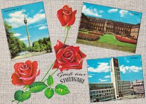 Germany Gruss Aus Stuttgart mit Rosen Multi View