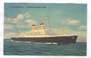 Oceanliner S.S. INDEPENDENCE, American Export Lines, PU-1954