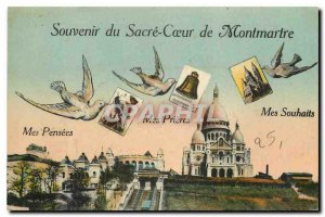 Old Postcard Remembrance Sacre Coeur of Montmartre My Thoughts My Prayers May...