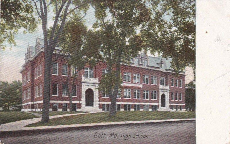Maine Bath High School 1908 sk829