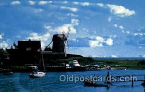 Harwich, Cape Cod, Massachusetts, USA Windmills Postcard Post Cards, Old Vint...