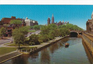 Canada Rideau Canal with Peace Tower Ottawa Ontario