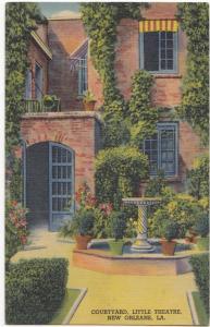 Courtyard, Little Theatre, New Orleans, LA , unused Postcard