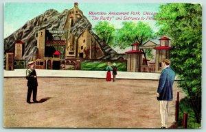 Chicago IL~Riverview Amusement Park~Rarity Mountain~Picnic Grounds~Artist c1910