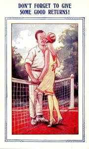 Tennis - Don't Forget to Give Some Good Returns    (Humor, Lovers)
