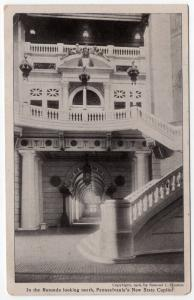 1906 Harrisburg PA In The Rotunda Looking North New State Capitol UDB Postcard