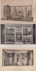 Dolls House Houses Antique Museum Selection 3x Victoria & Albert Old Postcard s