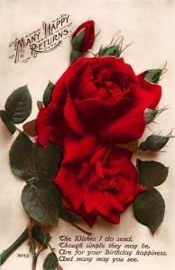 Many Happy Returns, Wishes, roses