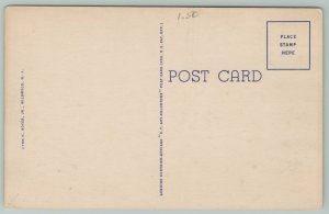 Wilmington Delaware~Rodney Square~Post Office~Custom House~1940s Linen Postcard