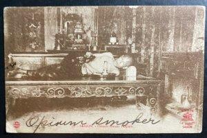 Mint Saigon Vietnam RPPC Real Picture Postcard Chinese Smoking Opium